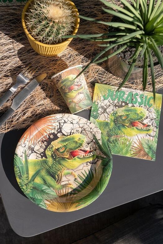 Decoration de table anniversaire jurassic dinosaure