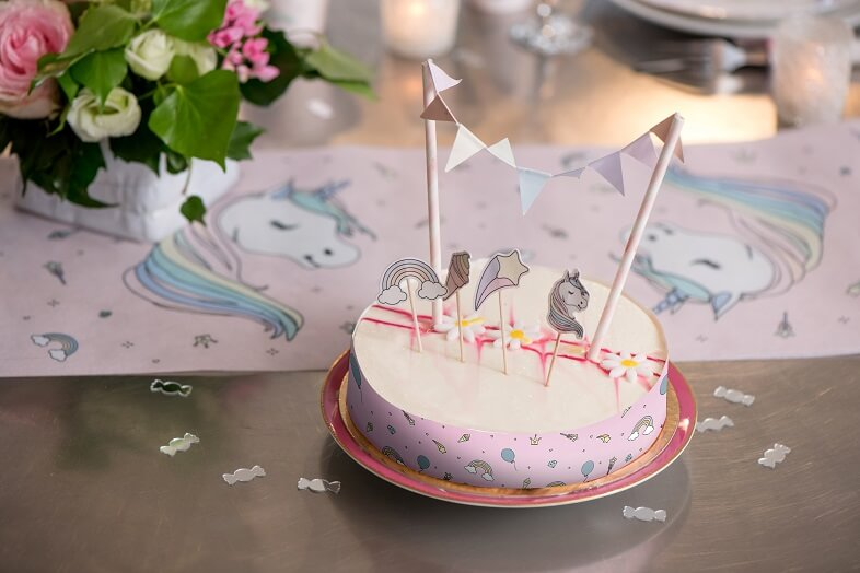 Decoration de table anniversaire licorne rose