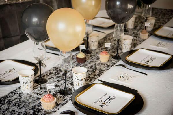 Decoration de table aperitive