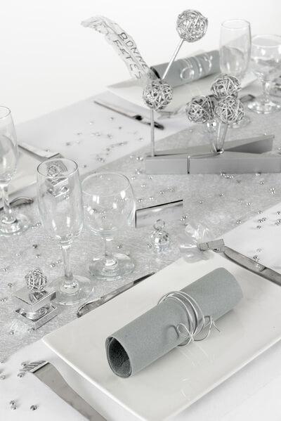 Decoration de table argent 1