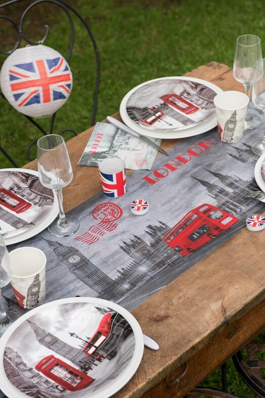 Decoration de table assiette angleterre londres