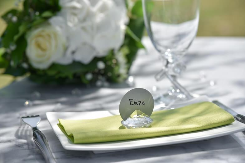Decoration de table avec diamant transparent 1