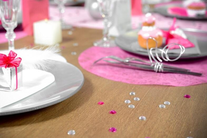 Decoration de table avec diamant transparent