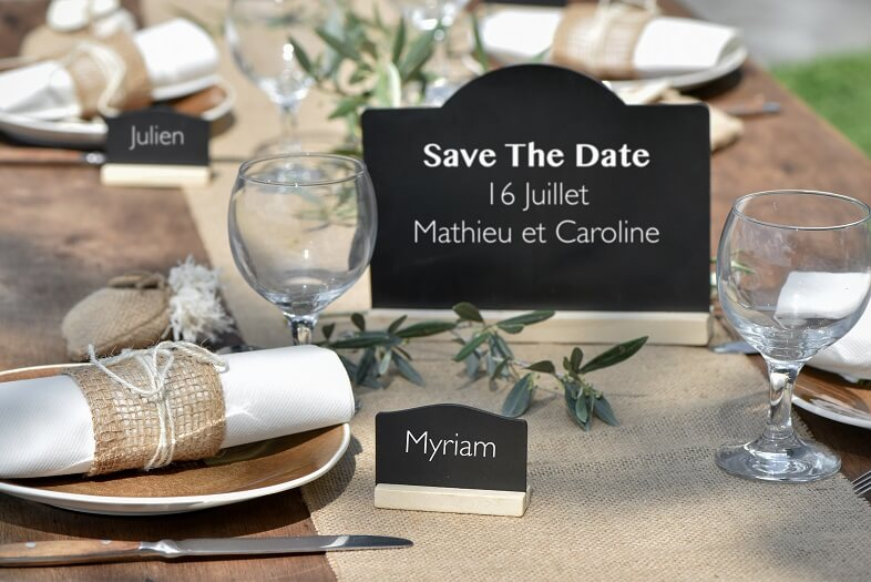 Decoration de table avec du jute