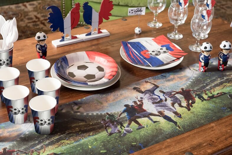Decoration de table avec gobelet tricolore france