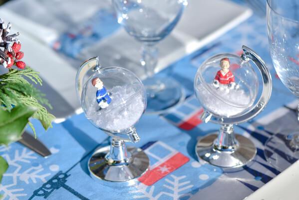 Decoration de table avec neige