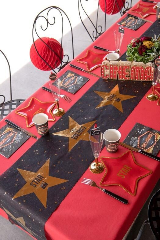 Decoration de table avec serviette cinema