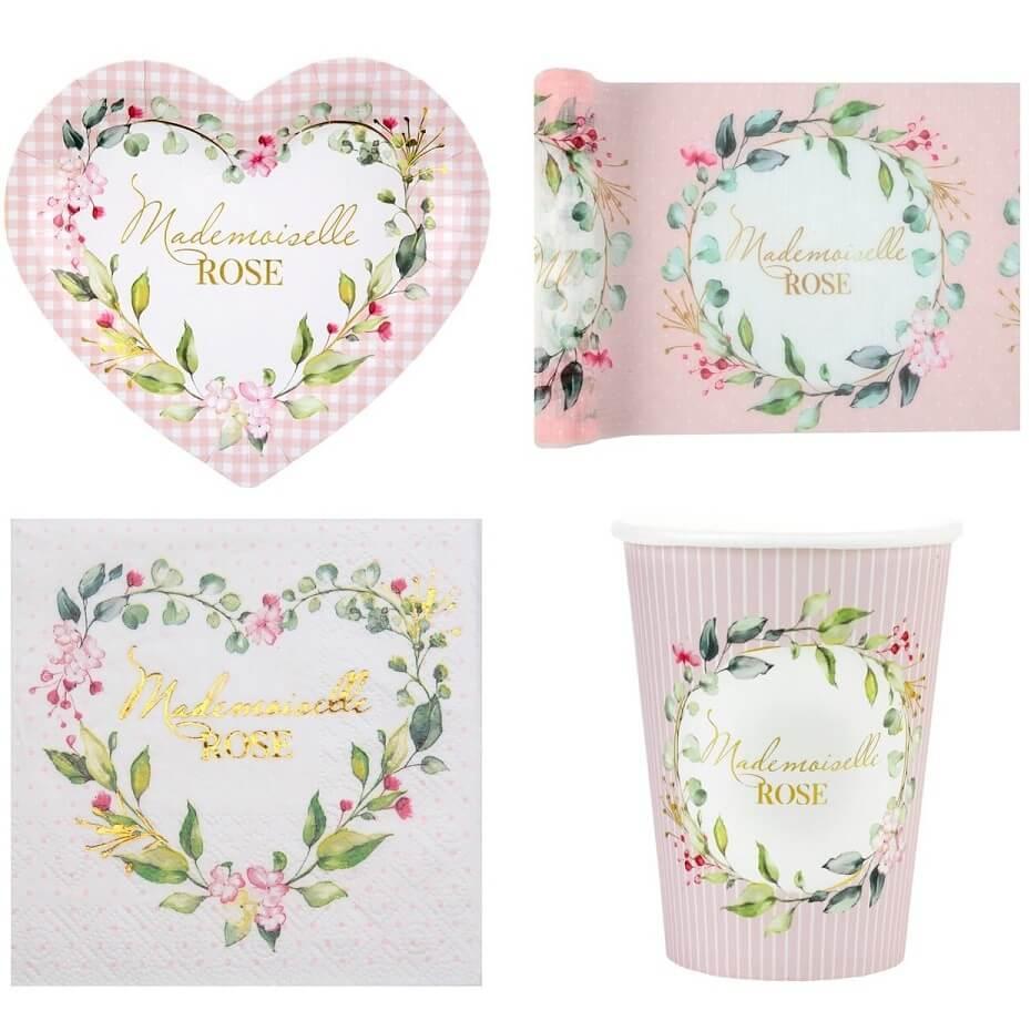 Decoration de table baby shower rose fille fleur