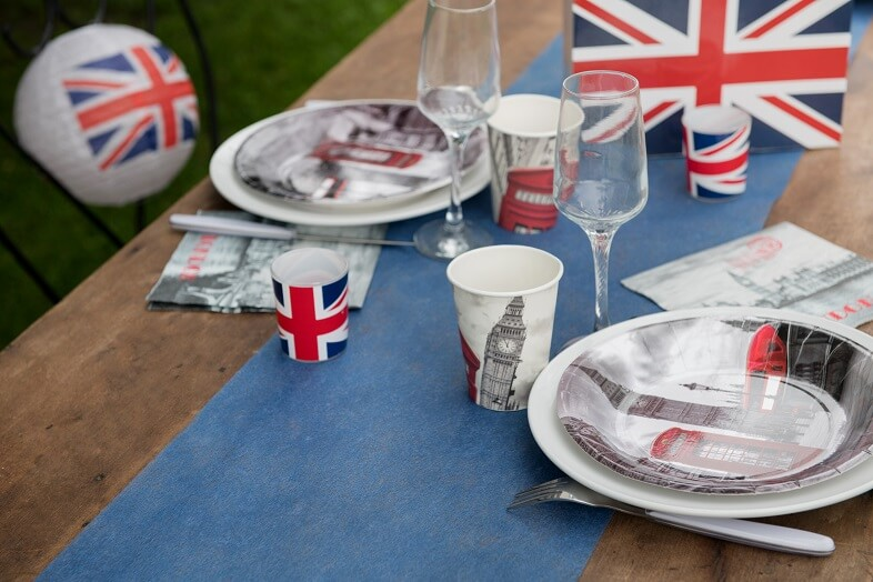 Decoration de table bleu marine