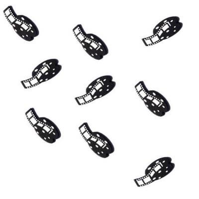 Confettis de table bobine cinéma en bois (x25) REF/DEC470