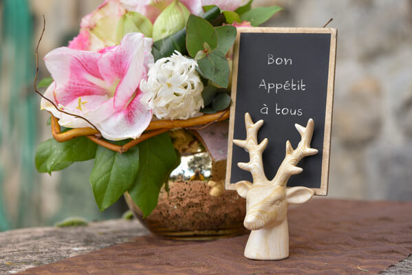 Decoration de table cerf