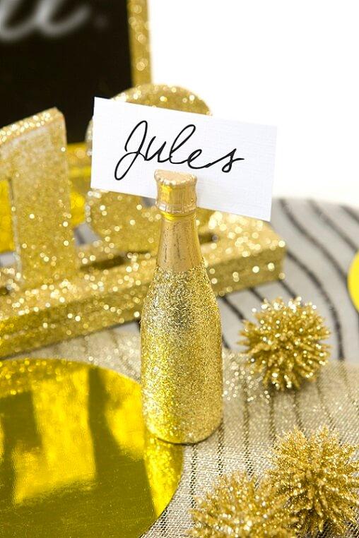 Decoration de table champagne 1