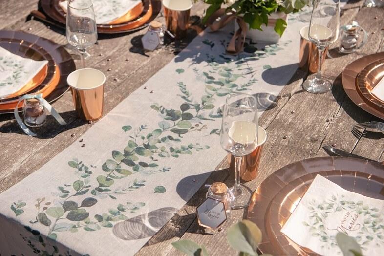 Decoration de table champetre bucolique