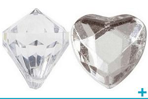 Decoration de table chic avec diamant perle strass
