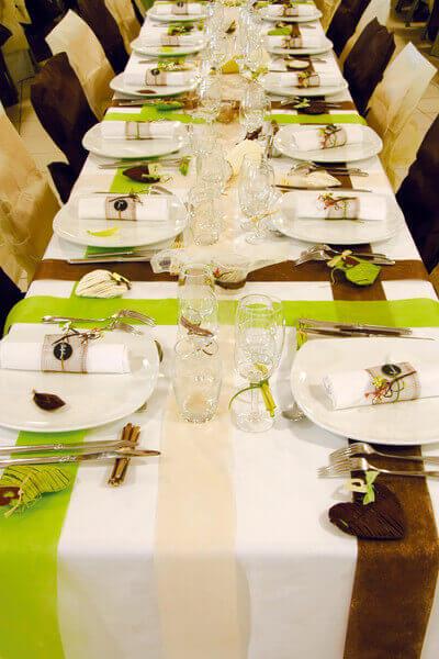 Decoration de table chocolat 1