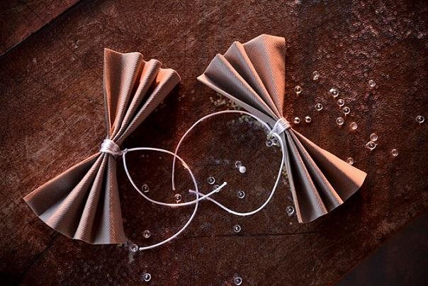 Decoration de table chocolat et transparente