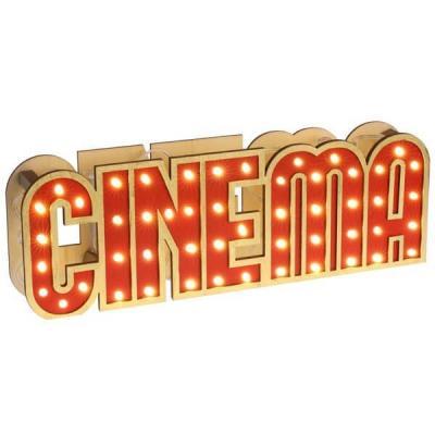 REF/EV-308 / Location d'une lettre cinéma lumineuse à LED en décoration de table (x1)