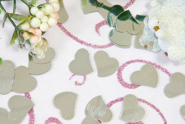 Decoration de table coeur mariage