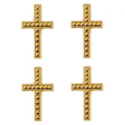 Motif croix or (x10) REF/MT368