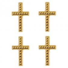 Motif croix or (x10) REF/MT368