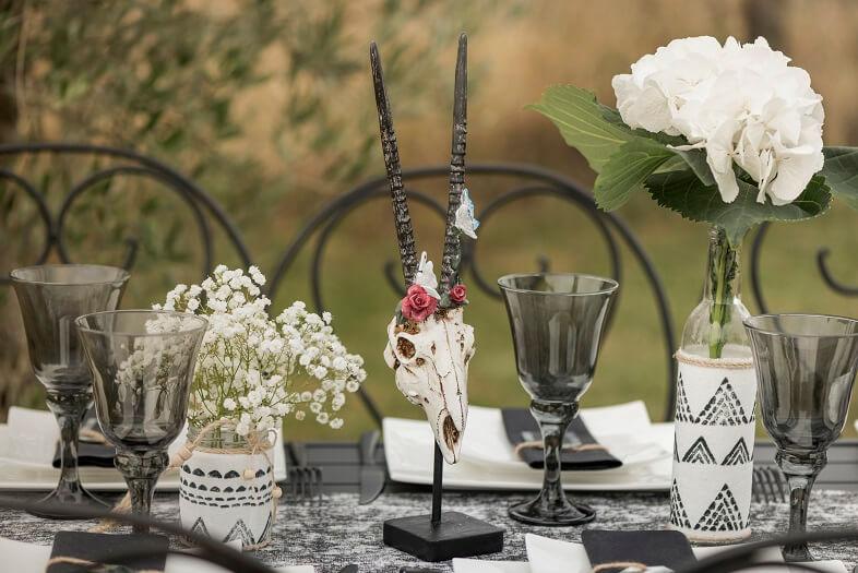 Decoration de table crane ethnique