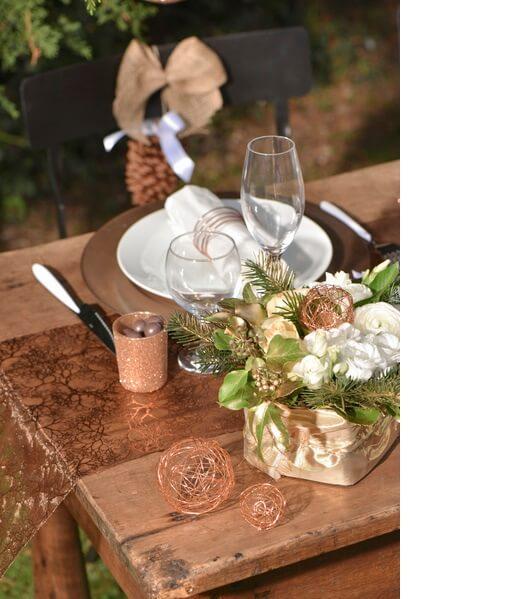 Decoration de table cuivre 5
