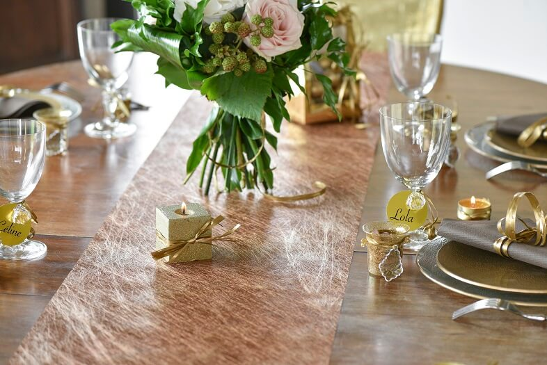Decoration de table cuivre 6