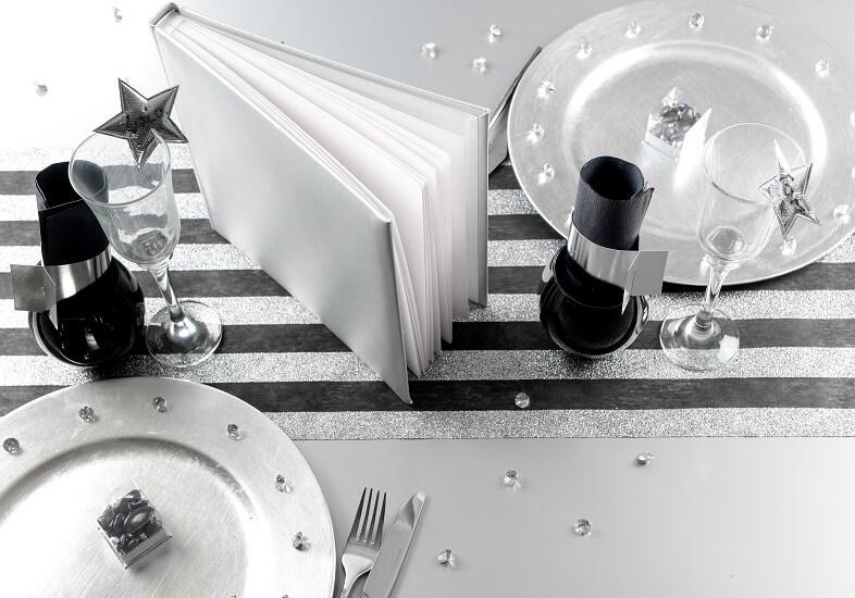 Decoration de table diamant transparent