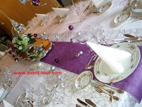 Decoration de table elegante bonne annee