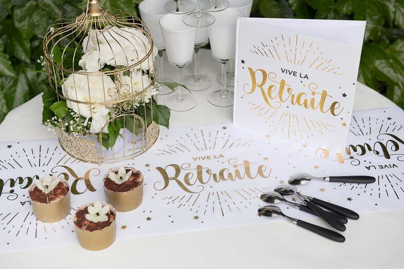 Decoration de table elegante retraite