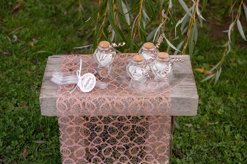 Decoration de table elegante rose gold
