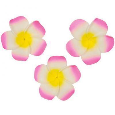Décoration de table tropicale fleur de Monoï rose autocollante (x6) REF/FMA3043