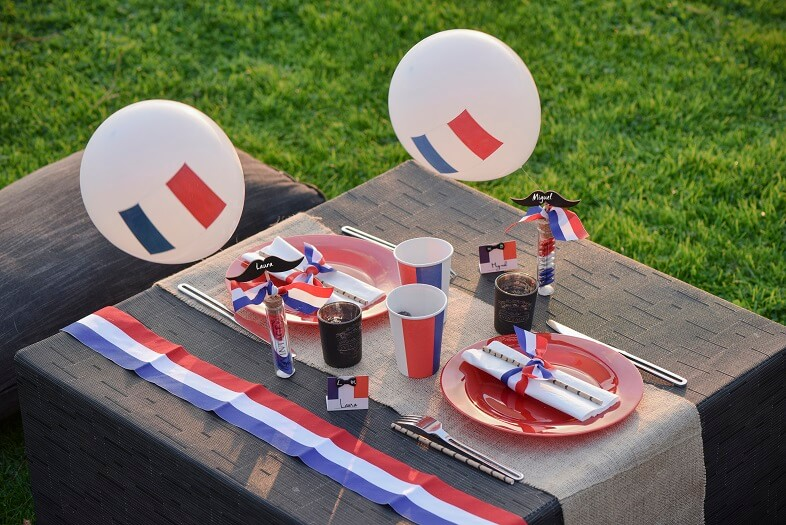 Decoration de table france tricolore