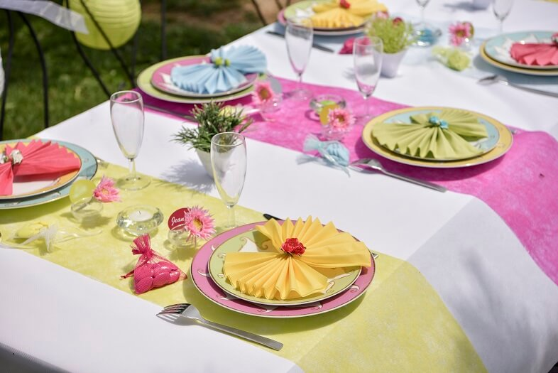 Decoration de table fuchsia 5