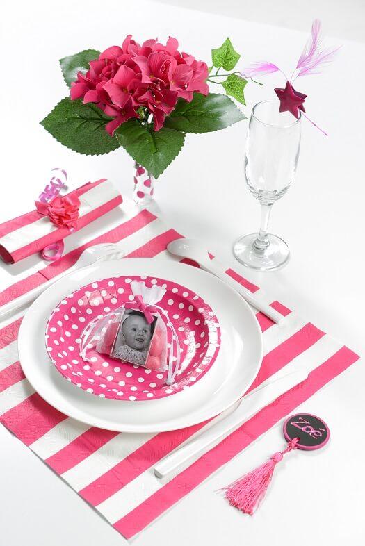 Decoration de table fuchsia 6