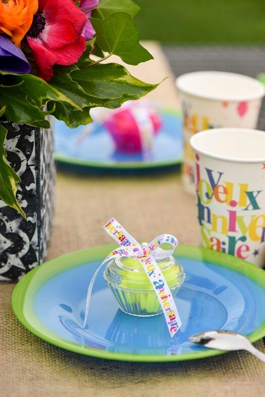 Decoration de table gourmandise cupcake