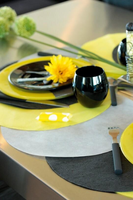Decoration de table grise 2