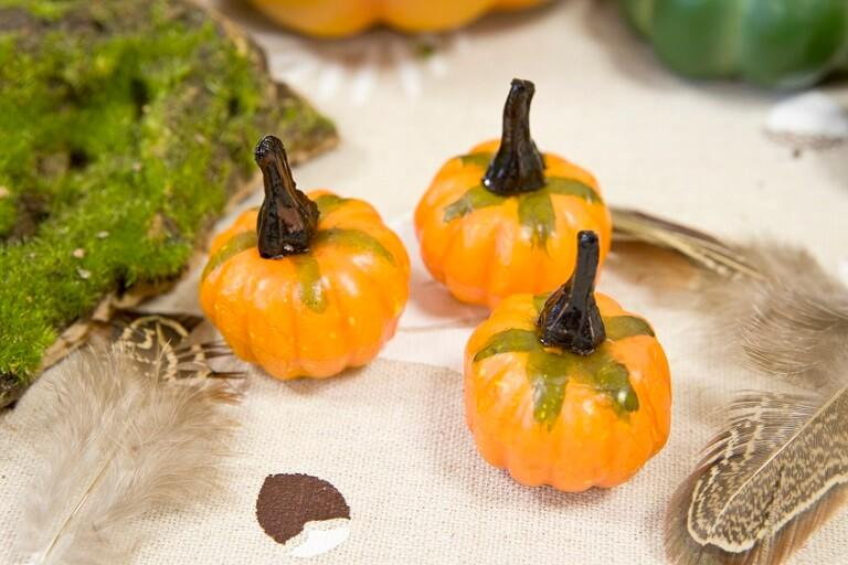 Decoration de table halloween citrouille orange