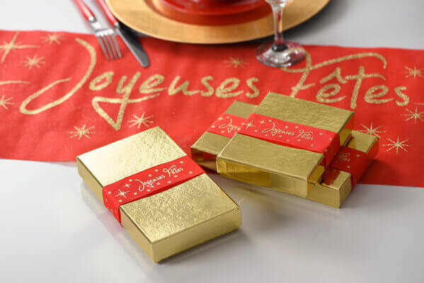 Decoration de table joyeuses fetes rouge