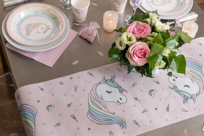 Decoration de table licorne