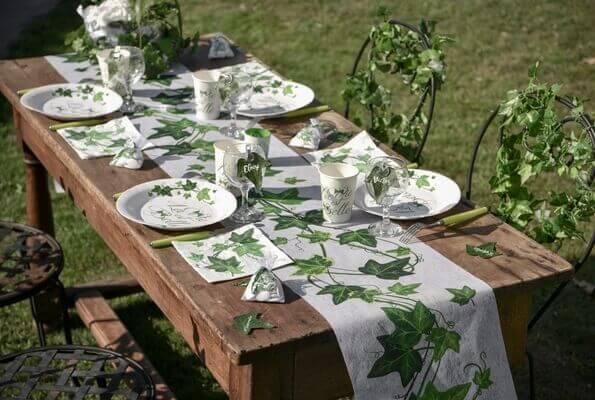Decoration de table lierre 1