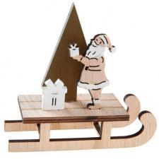 Décoration de table avec luge du père Noël naturel (x1) REF/6497