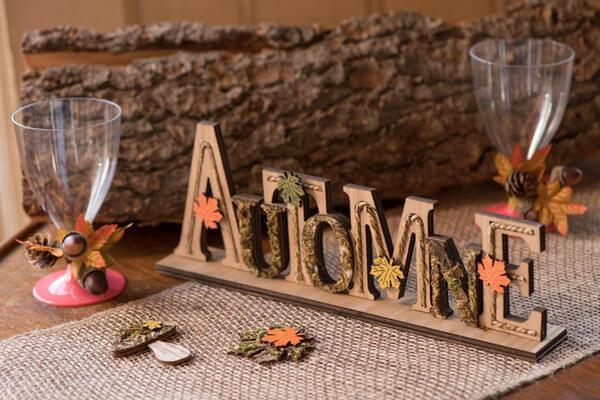 Decoration de table mariage automne