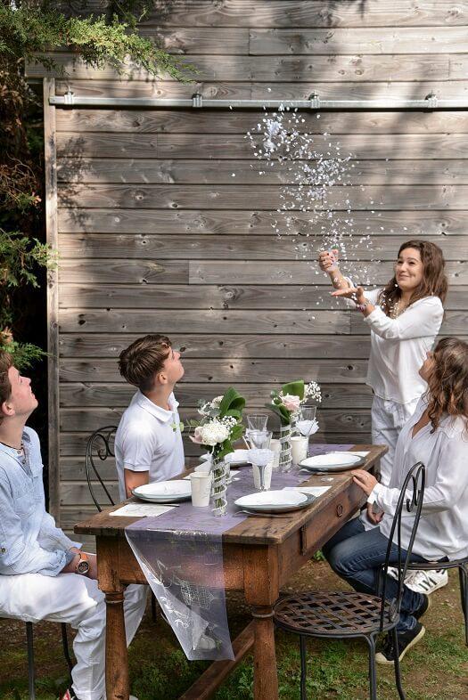 Decoration de table mariage avec alliance