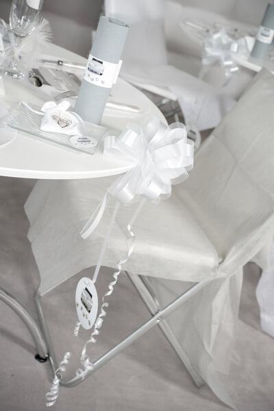 Decoration de table mariage blanc 3