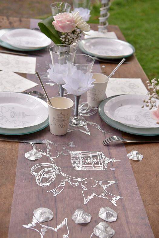 Decoration de table mariage elegante alliances