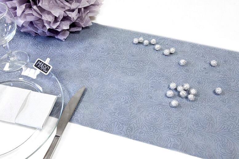 Decoration de table mariage grise