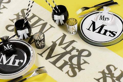 Decoration de table mariage mr et mrs