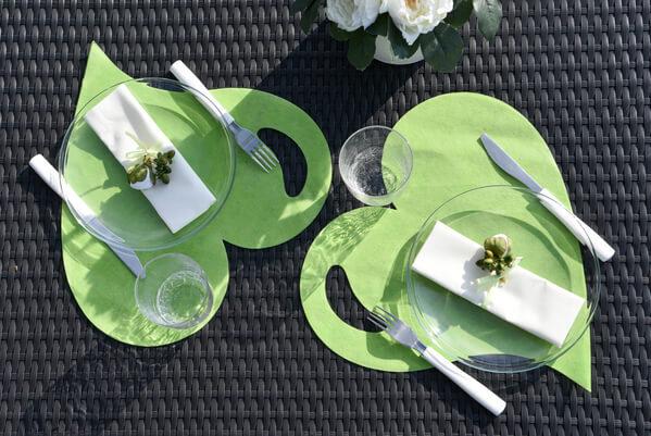 Decoration de table mariage vert