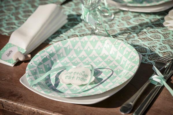 Decoration de table mint 1